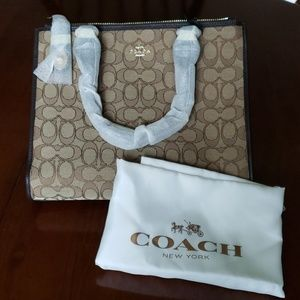 Authentic Coach Signature Leather Crosby Carryall